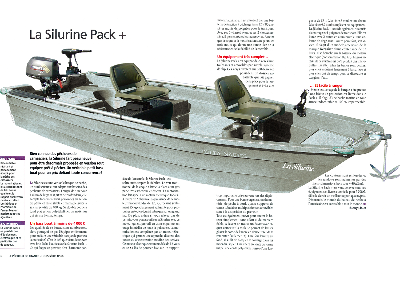 La barque Silurine 4m pack plus