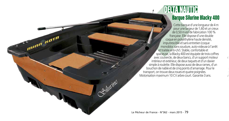 barque silurine blacky par le pecheur de France