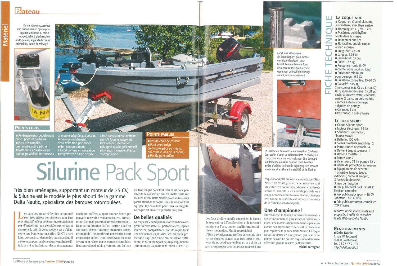 La barque Silurine pack sport 373