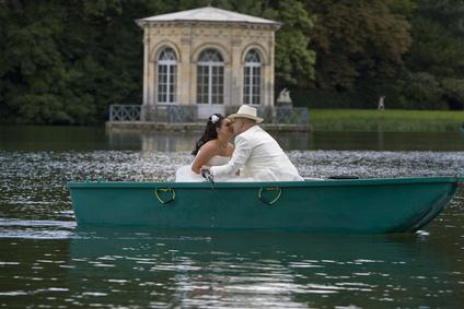 Promenade en barque en amoureux