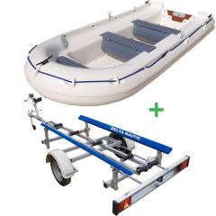 Barque Fun Yak 390 et remorque Easy Bascul Luxe