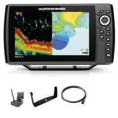 Sondeur GPS Humminbird Hélix 9 G4N CHIRP MEGA SI + Sonde 140/240/1075/1200 KHz