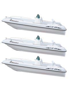 Lot 3 bateaux Rigiflex Cap 400 console