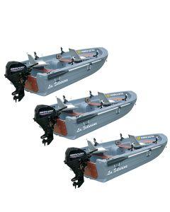 Lot de 3 barques Silurine Sport 3m73 Titanium