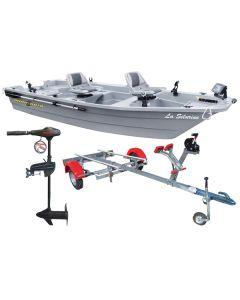 Pack barque La Silurine 400 titanium + remorque complète Nautic Plus + moteur électrique eco Booster V 55 lbs