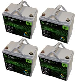 Lot de 4 batteries lithium 12V 55Ah Powerbrick
