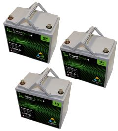 Lot de 3 batteries lithium 12V 55Ah Powerbrick