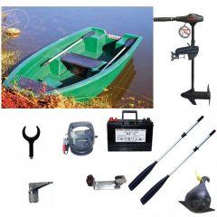 Barque Armor 320 + Eco Booster V55 Lbs + accessoires