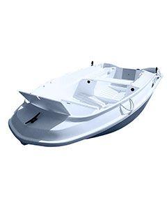 Barque de pêche Cap 300 Rigiflex grise