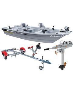 Barque Silurine 4m + moteur Torqeedo + remorque Nautic Plus