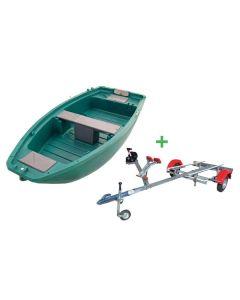 Barque de pêche Fun Yak 280 et remorque Nautic Plus