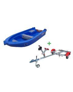 Barque Fun Yak 370 et remorque Nautic Plus
