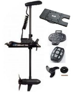Moteur hors-bord électrique 12 V, 55 lbs GPS avec plaque de démontage rapide + pédale+ télécommande
