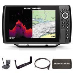 Sondeur GPS Humminbird Hélix 9 G4N CHIRP MEGA DI + Sonde 140/240/1075/1150 KHz