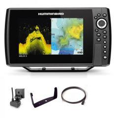 Sondeur GPS Humminbird Hélix 8 G4N CHIRP MEGA DI + Sonde 140/240/1075/1150 KHz