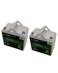 Lot de 2 batteries lithium 12V 55Ah Powerbrick