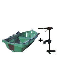 Barque N°7 Fidèle 2,49m et moteur Eco Booster 36 lbs
