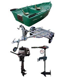 Pack Armor Ria 380 + remorque spéciale Ria + moteur Mercury 6CV 4T arbre long démarrage manuel + Eco Booster V55 Lbs