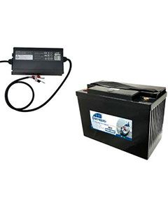 Pack batterie Lithium 12 V 100 AH + Chargeur