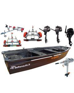 Pack hybride Silurine 4m + moteurs + remorque