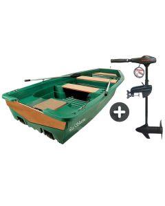 Pack barque de pêche la Silurine 400 + moteur électrique Eco Booster V 55 lbs 12V