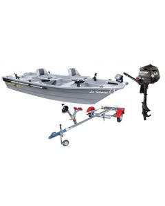 Pack barquela Silurine 400 titanium + remorquecomplète Nautic Plus + moteurhors bord Mercury 3.5cv 4 temps
