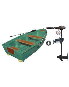 Pack barque de pêche leSpécialiste 350 + moteur électrique V 55 lbs