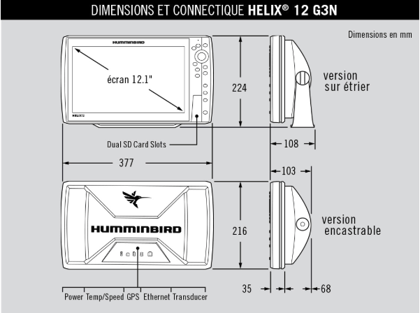Dimensions Helix 12 g3n ds