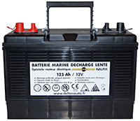 Batterie décharge lente spéciale moteur électrique