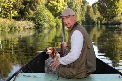 Barque pour la pêche ou la chasse