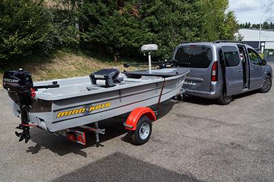 Silurine 4m bass boat titanium